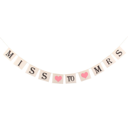 Miss to Mrs in black and pink bridal shower banner - PartyMonster.ae