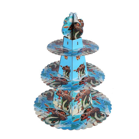 Moana cupcake stand- 3 tier - PartyMonster.ae