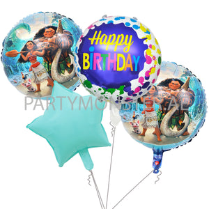 Moana birthday balloons bouquet - PartyMonster.ae