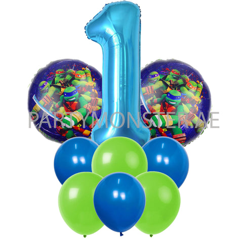 Ninja Turtles any number balloons bouquet - PartyMonster.ae