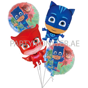 cat boy pj masks themed balloons for sale online in  Dubai