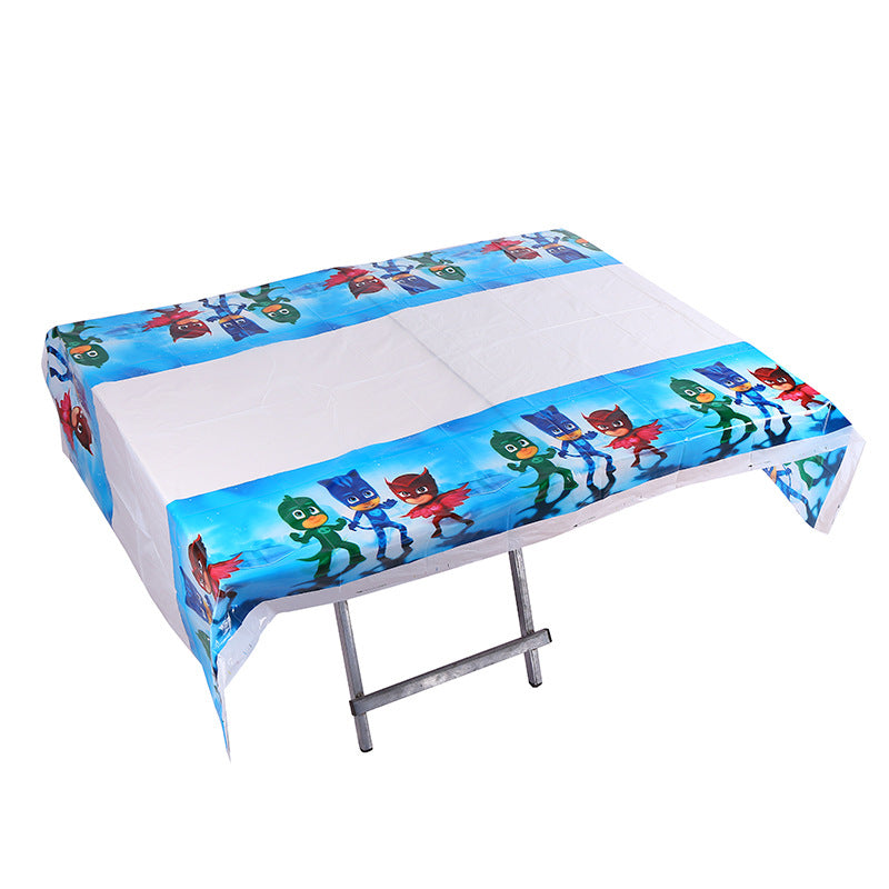 PJ Masks themed table cover - PartyMonster.ae