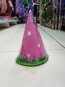 Pink Party Hats - 4pcs - PartyMonster.ae
