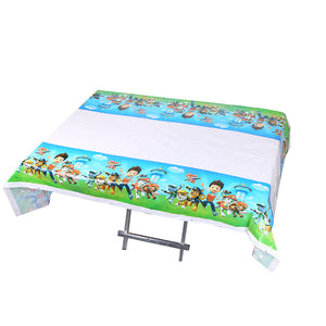 Paw Patrol themed plastic disposable table cover mat