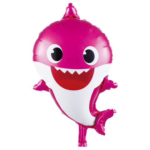 pink baby shark foil balloon for sale online in Dubai
