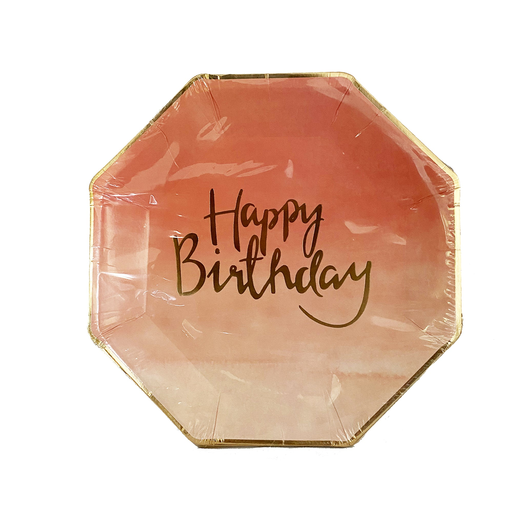 Pink Happy Birthday paper plates for sale in Dubai