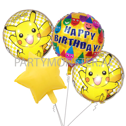 Pokemon birthday balloons bouquet - PartyMonster.ae