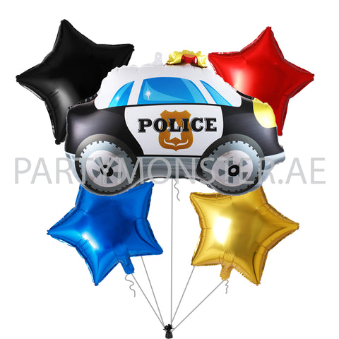 police themed balloons and party supplies delivery in Dubai