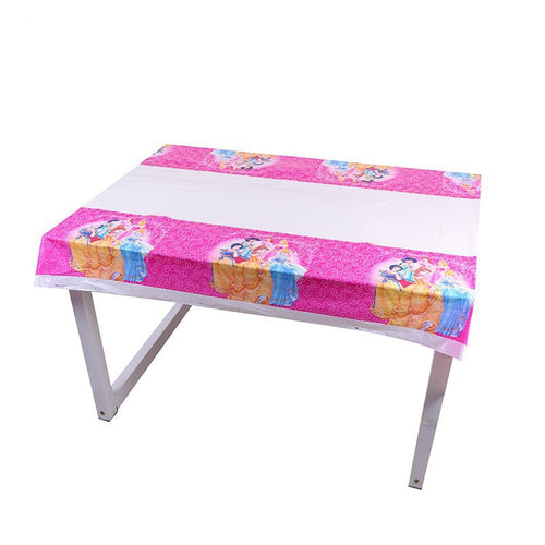 Princesses themed plastic disposable table cover mat