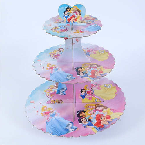 Princesses themed cupcake stand-3 tier