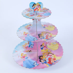 Princesses themed cupcake stand- 3 tier - PartyMonster.ae