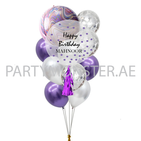 purple customised balloons for sale online in Dubai