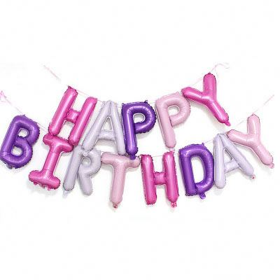 Happy Birthday Colourful Letters Foil Balloon Bunting Set - PartyMonster.ae