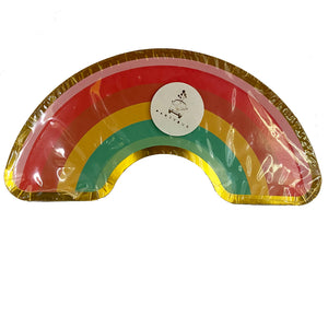 Rainbow Shaped paper plates for sale in Dubai