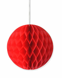 Red honeycomb party decoration - 25cm - PartyMonster.ae