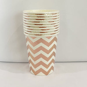 Rose Gold Chevron paper cups for sale in Dubai