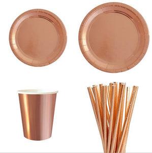 Rosegold cutlery for parties, birthdays, weddings, celebrations