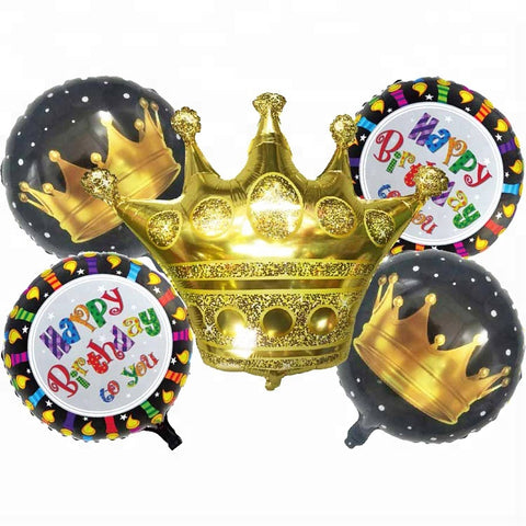 royal crown birthhday balloons bouquet