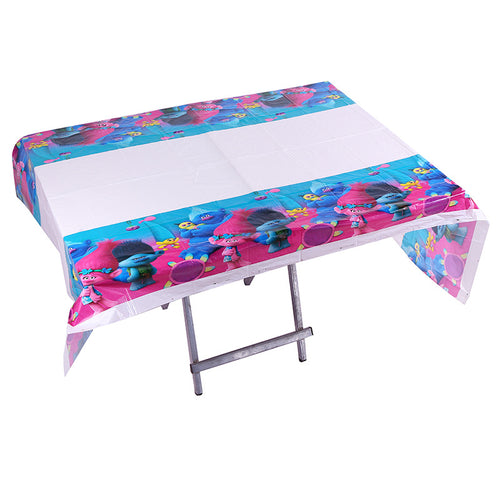 The Smurfs themed plastic disposable table cover mat