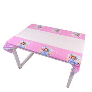 Sophia the First themed plastic disposable table cover mat
