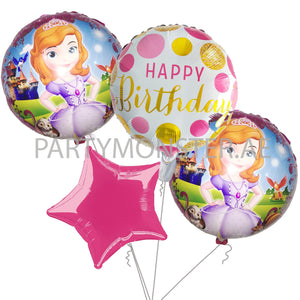 Sophia the First birthday balloons bouquet - PartyMonster.ae