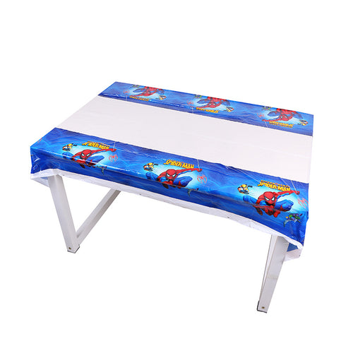 Spiderman themed plastic disposable table cover mat