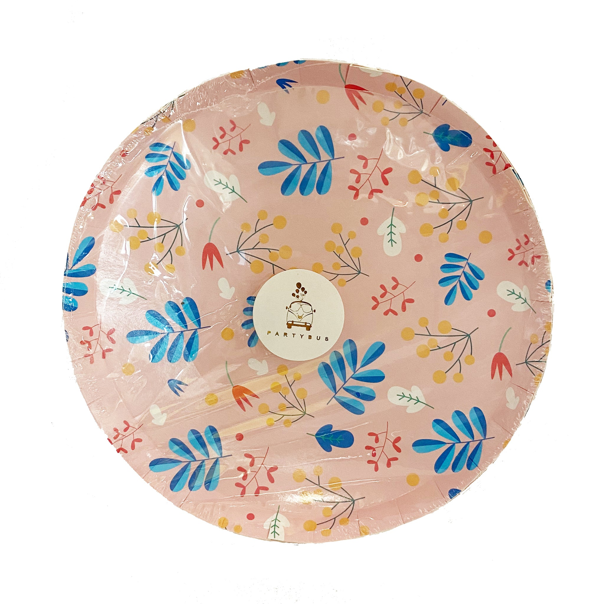 Spring Pink paper plates for sale in Dubai