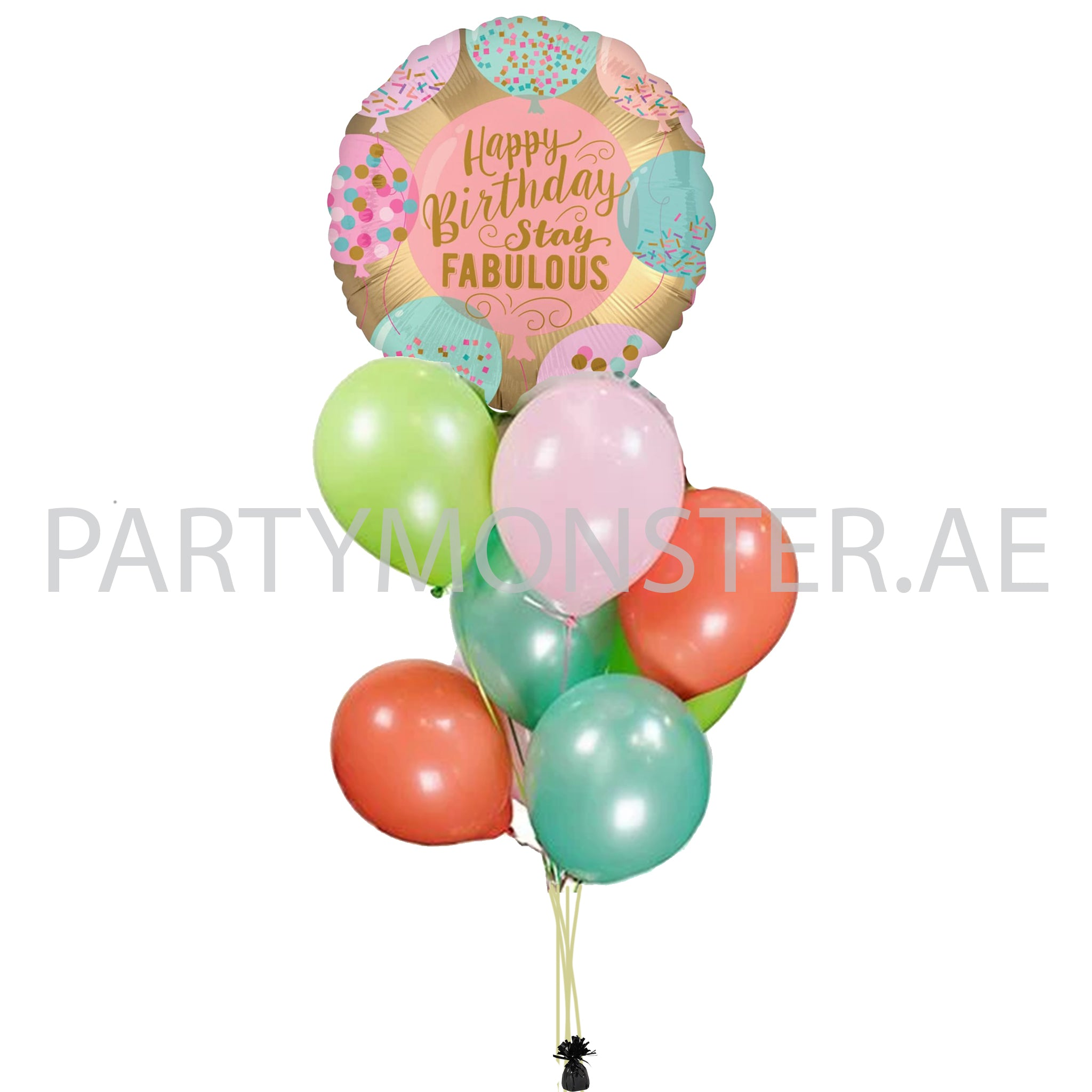Stay Fabulous Birthday Balloons Bouquet 02