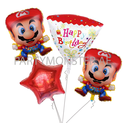 Super Mario birthday balloons bouquet - PartyMonster.ae