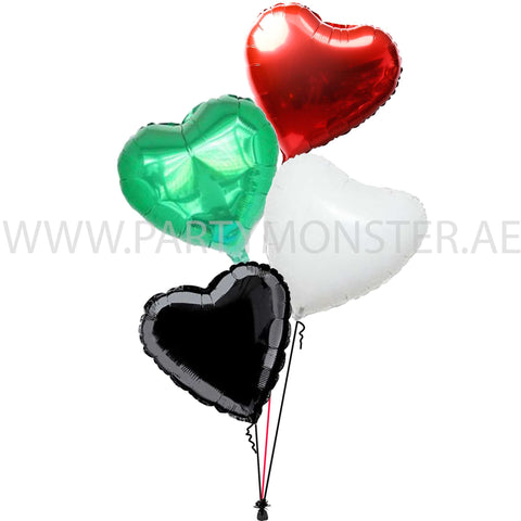 UAE flag colours balloons for sale online in Dubai