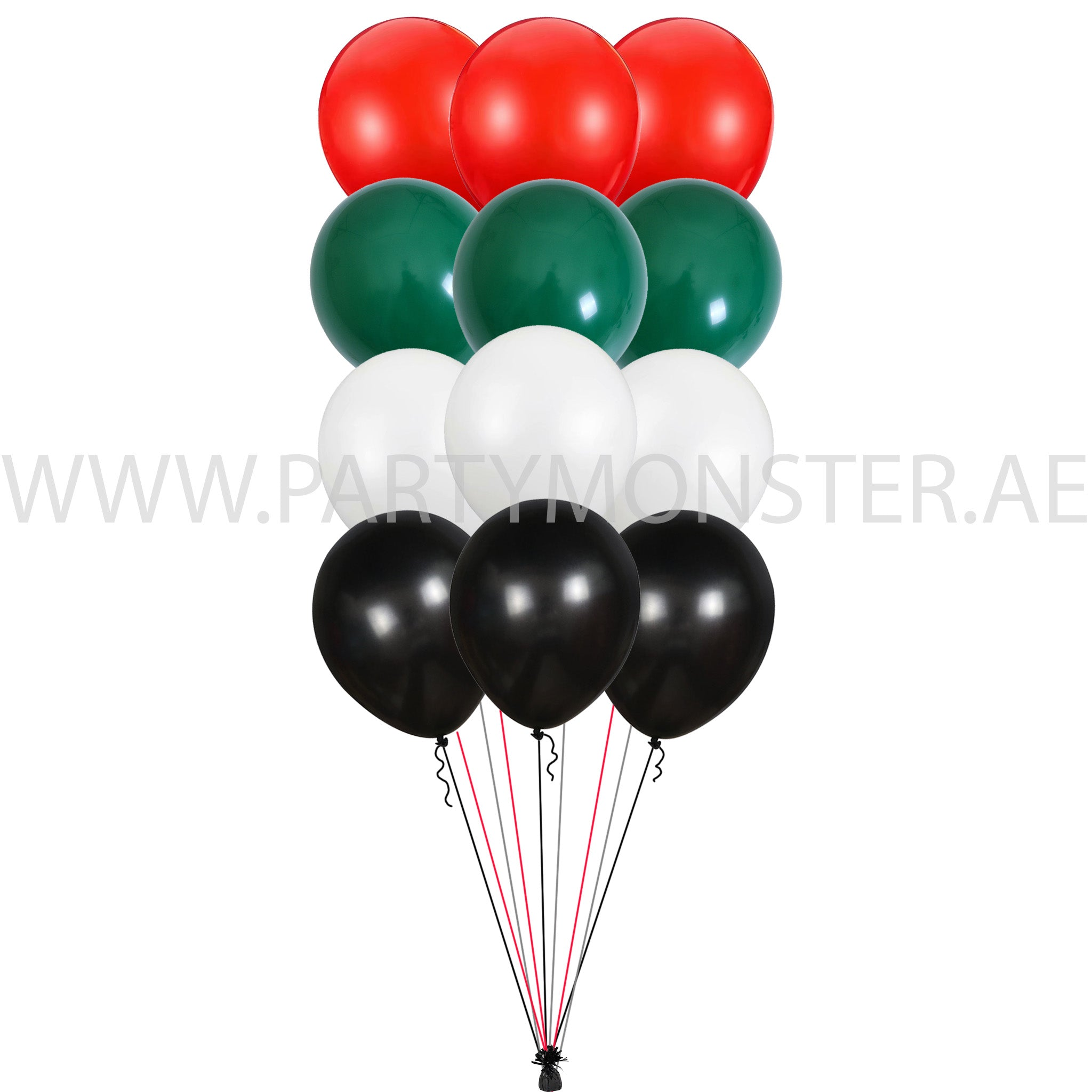 uae national day latex balloons bouquet for sale online in Dubai