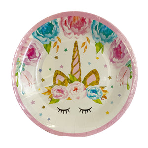 Unicorn Horn paper plates for sale in Dubai
