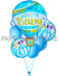 welcome baby boy hot air balloon for sale online in Dubai