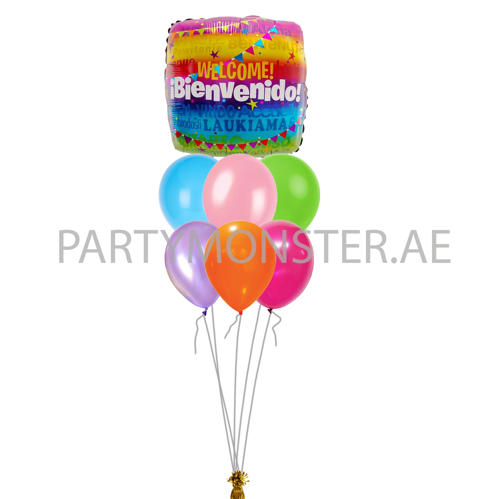 Welcome balloons bouquet - PartyMonster.ae