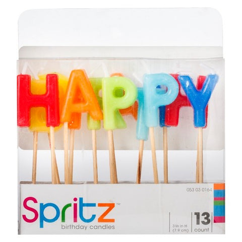 Happy Birthday Cake Top Candles - colorful - PartyMonster.ae