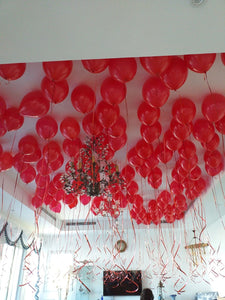 100 Red latex balloons - PartyMonster.ae