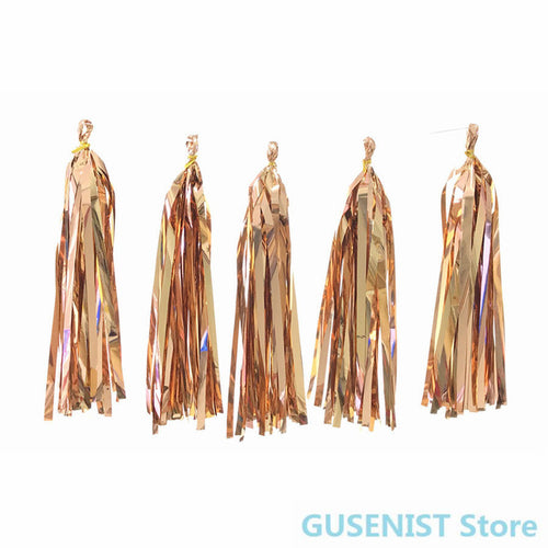 Golden Paper Tassel Garland