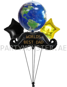 world's best dad balloons delivery in Dubai