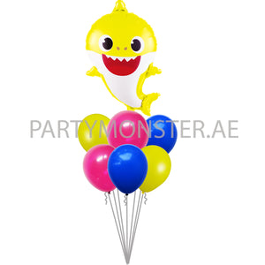 Yellow baby shark balloons for sale online in Dubai