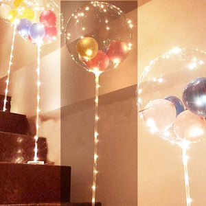 yellow led clear mylar balloon for sale online in Dubai