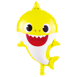 yellow baby shark foil balloon delivery in Dubai