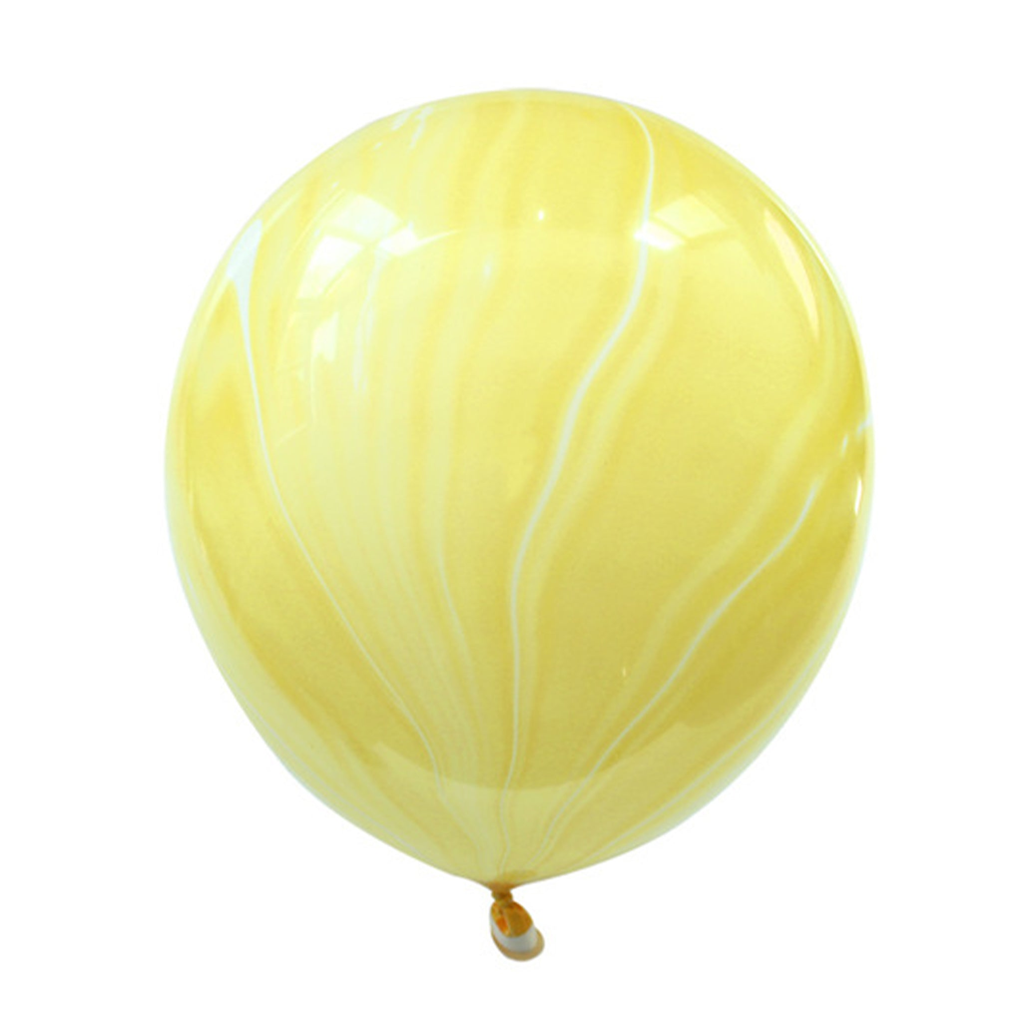 Yellow marble latex balloon for sale online in Dubai