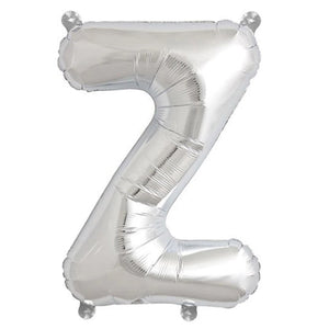 Letter Z silver foil balloon for sale online in Dubai