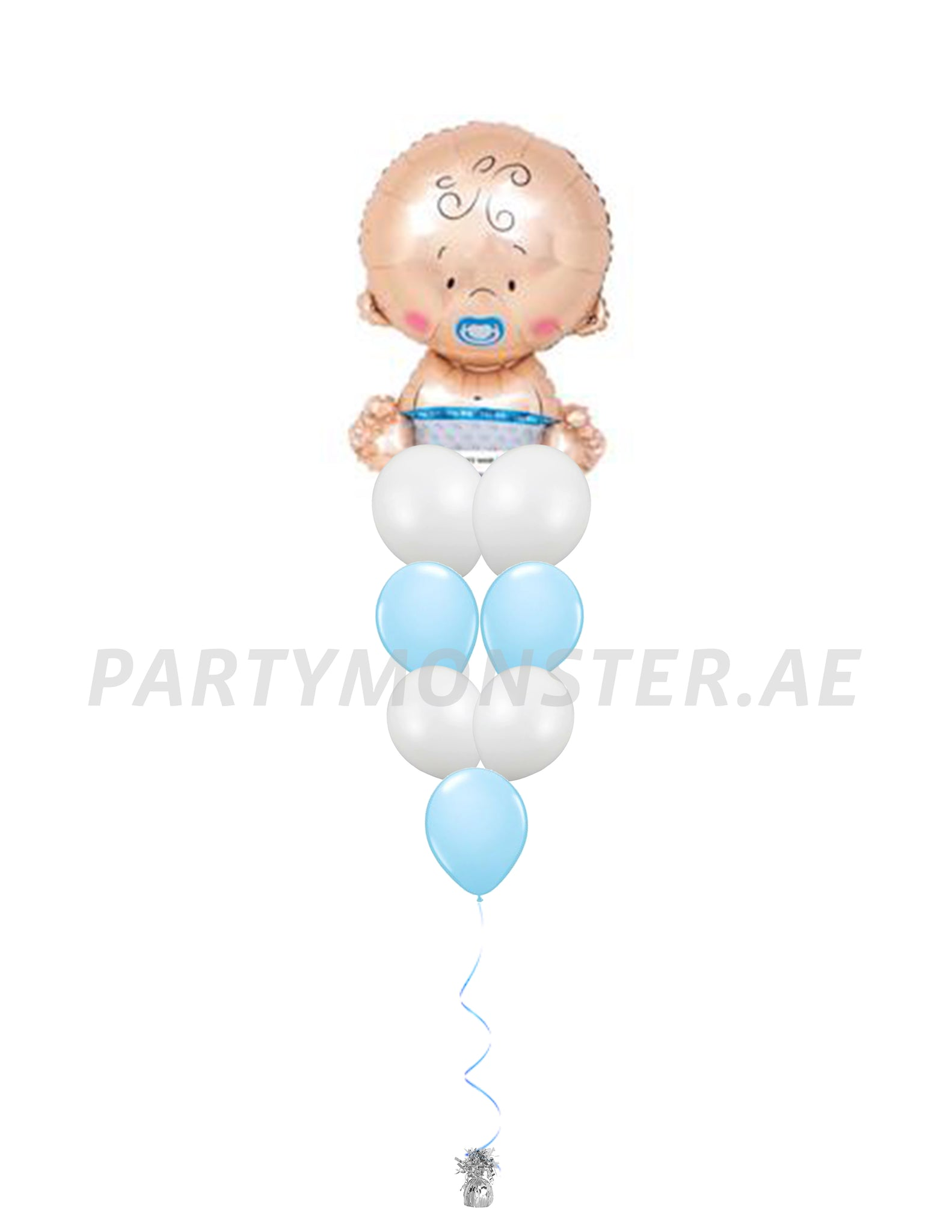 Baby boy balloons bouquet 1 - PartyMonster.ae