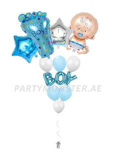 Baby boy balloons bouquet 2 - PartyMonster.ae