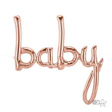 baby cursive rosegold foil balloon- 82*102cm - PartyMonster.ae