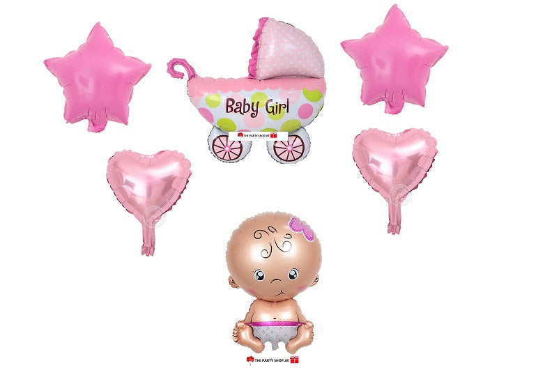 New Born Baby Girl Bouquet 2 - PartyMonster.ae