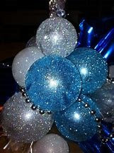 Blue Sparkling/Glittery Round Latex 18inches