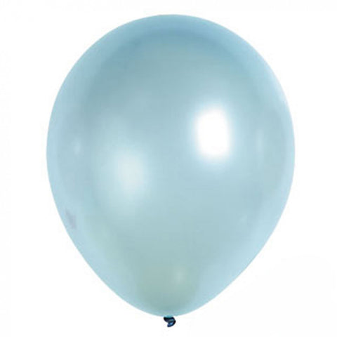 light metallic blue latex balloon for sale online delivery in Dubai