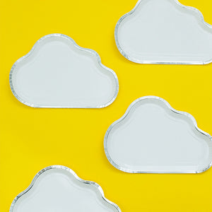 Cloud shaped plates - 8pieces - PartyMonster.ae